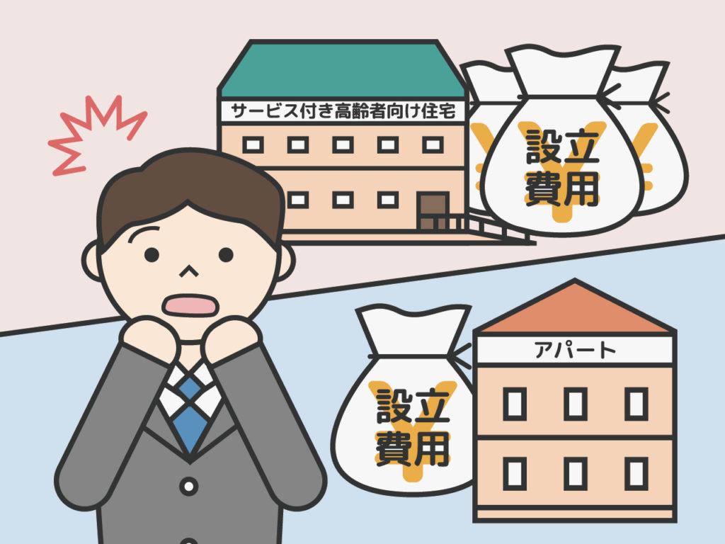 サービス付き高齢者向け住宅の設立費用はどのくらい?